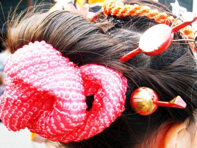 桃割れ 日本髪 結い方